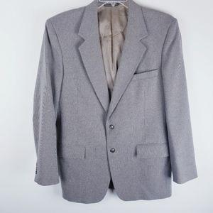 Comfort suit brown blue blazer sport coat 42 long